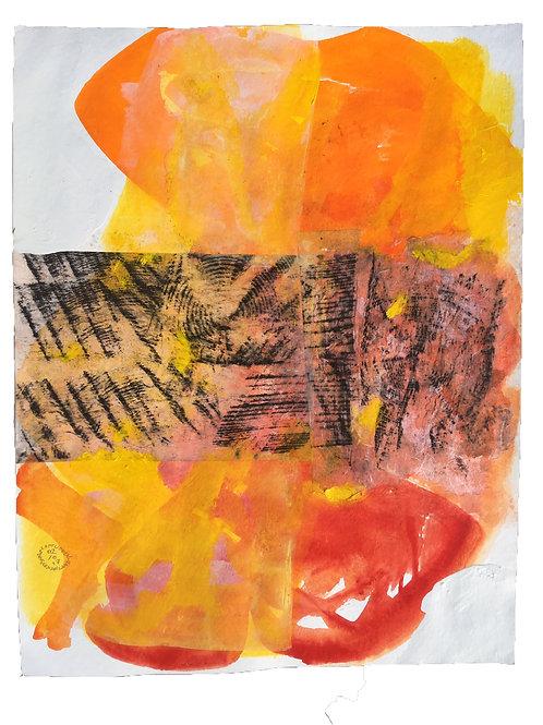 Akvarelbillede Nr. 150, Akvarel, 50 X 65 cm