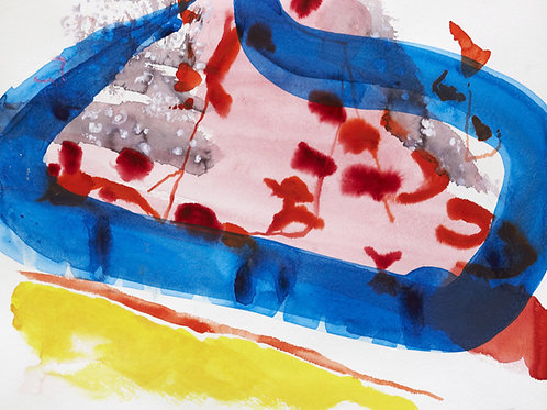 Akvarelbillede Nr. 132, Akvarel, 55 x 75 cm
