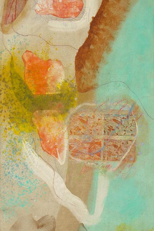 Oliemaleri Nr. 1079, 315 X 145 cm