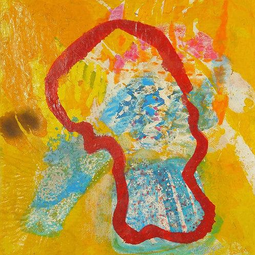 Oliemaleri Nr. 1026,150 X 142 cm