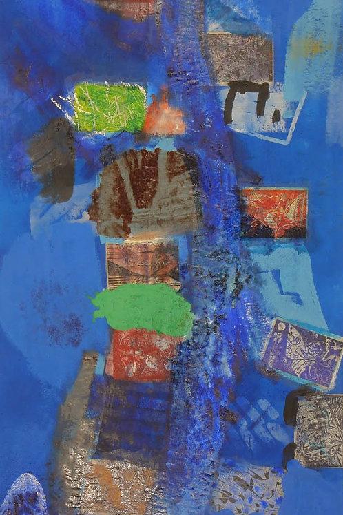 Oliemaleri Nr. 1077, 360 X 147 cm