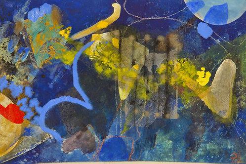Oliemaleri Nr. 1022, 101 X 159 cm