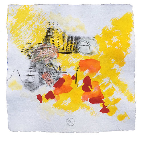 Akvarelbillede Nr. 153, Akvarel, 50 X 50 cm