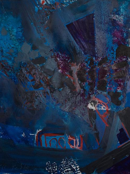 Oliemaleri Nr. IA007, 120x100 cm