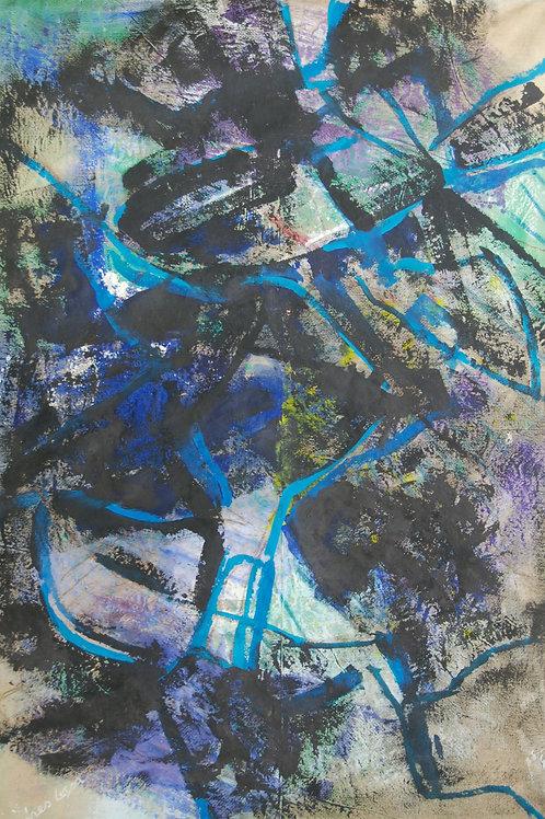 Oliemaleri Nr. 1086, 260 x 175 cm