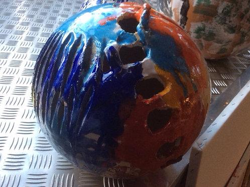 Keramik kunst Nr. 37: Keramik figur (sfære), Ø 40