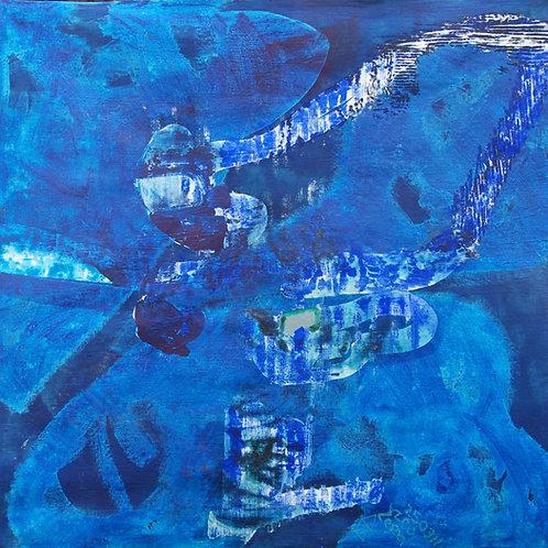 Oliemaleri Nr. 1084, 150 x 155 cm