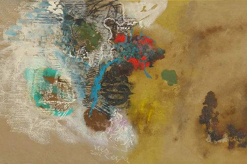 Oliemaleri Nr. 1055, 150 X 239 cm