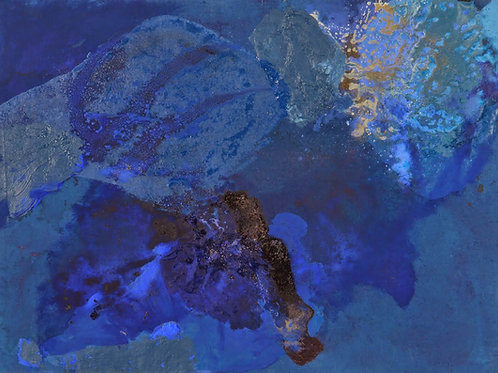 Oliemaleri Nr. 1014, 104 X 140 cm