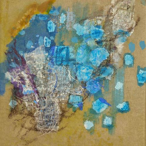 Oliemaleri Nr. 1044, 154 X 149 cm