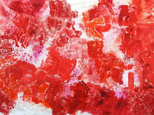 Oliemaleri Nr. 1104, 235 x 310 cm