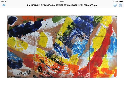 Keramik kunst Nr. 52: Keramik Panel, cm 75x132