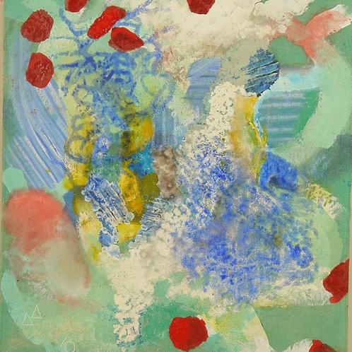 Oliemaleri Nr. 1021, 164 X 148 cm