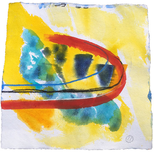 Akvarelbillede Nr. 161, Akvarel, 50 X 50 cm