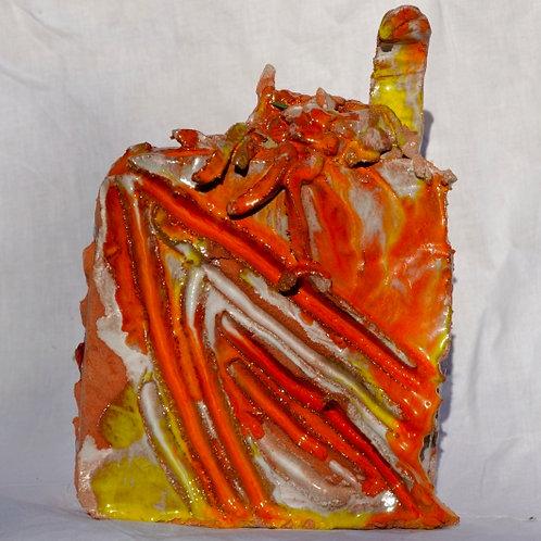 Keramik kunst  Nr. 27:  Keramik figur, 16 x 18 cm
