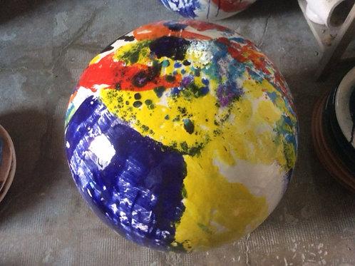 Keramik kunst Nr. 58: Keramik figur (sfære), diameter 50cm