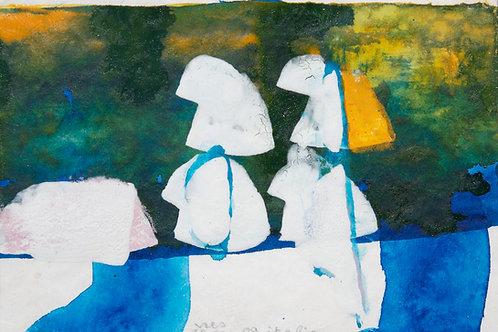 Akvarelbillede Nr. 126, Akvarel, 12 x 18 cm