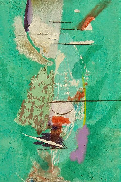 Oliemaleri Nr. 1057, 200 X 80 cm