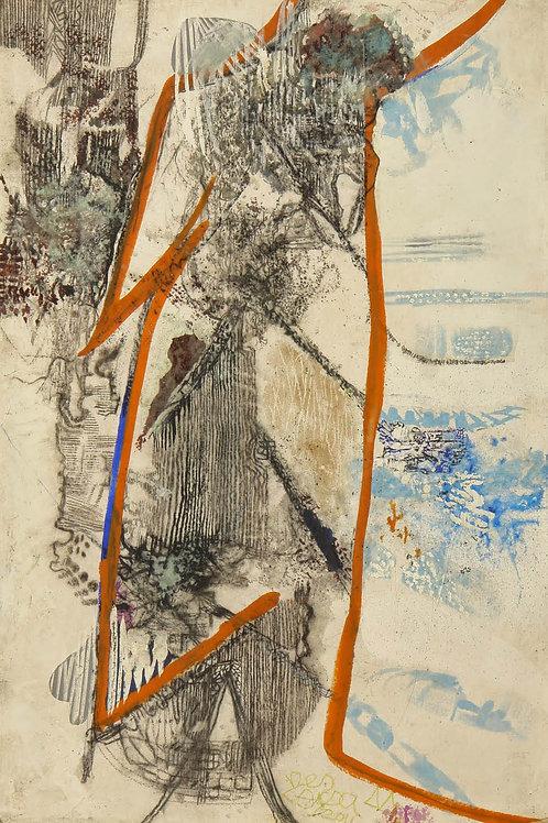 Oliemaleri Nr. 1051, 240 X 160 cm