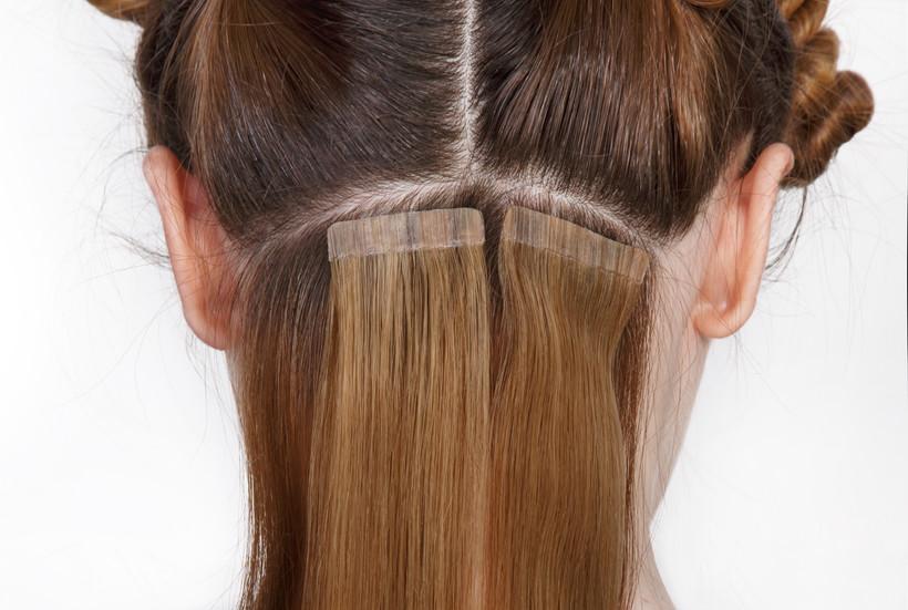 Natural Hair extensions at salon