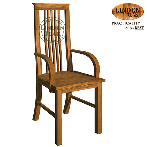 Handcrafted Solid Teak Wood 306 Chair with Arm Furniture