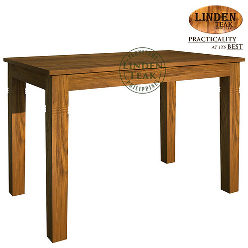 Handcrafted Solid Teak Wood Fixblock-120 Dining Table Furniture