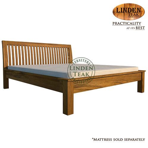 Handcrafted Solid Teak Wood Jari Bed Frame King Size Furniture