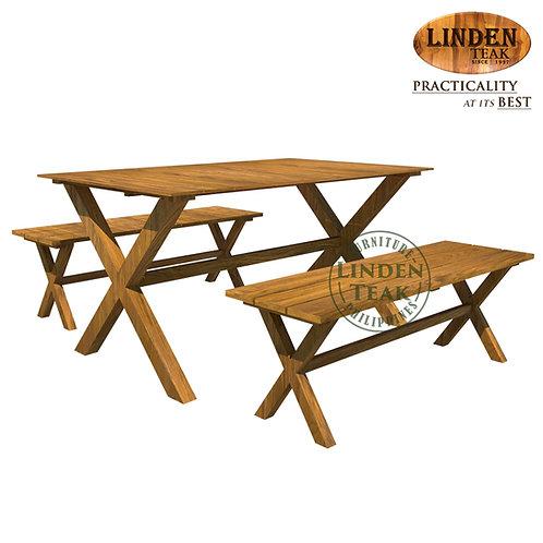 Handcrafted Solid Teak Wood JakartaSetFurniture