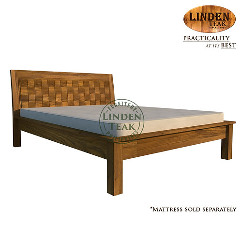Handcrafted Solid Teak Wood Empatra Hershey Bed Frame Queen Size Furniture
