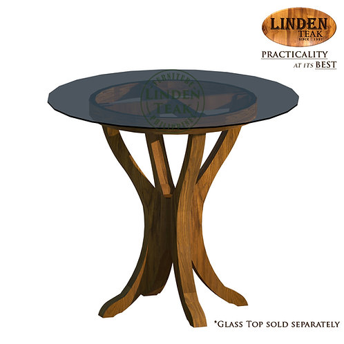 Handcrafted Solid Teak Wood Biyati Table Base Furniture