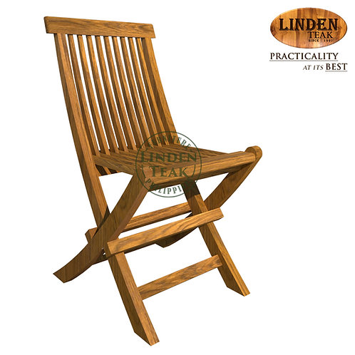 Handcrafted Solid Teak Wood Petite SMALL Accent Folding ChairFurniture