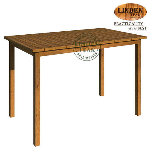 Handcrafted Solid Teak Wood Arifin-120 Dining Table Furniture
