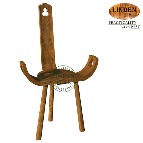 Handcrafted Solid Teak Wood Pancing Accent Chair Furniture