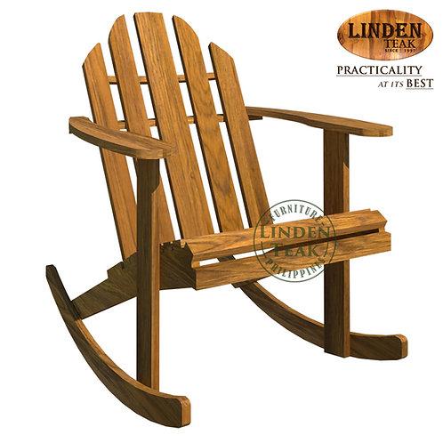 Handcrafted Solid Teak Wood Stylist Rocking ChairFurniture