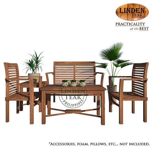Handcrafted Solid Teak Wood ECOStacking Sofa Set Furniture