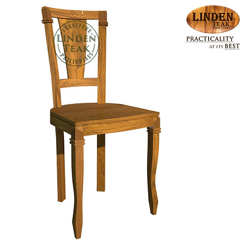 Handcrafted Solid Teak Wood Punt Up No Flower Dining Chair