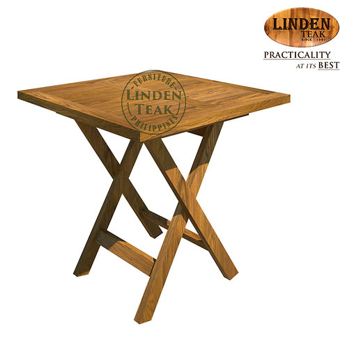 Handcrafted Solid Teak Wood MINISalur SquareTable Furniture