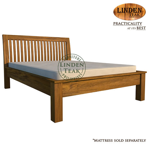 Handcrafted Solid Teak Wood Jari Bed Frame Double Size Furniture