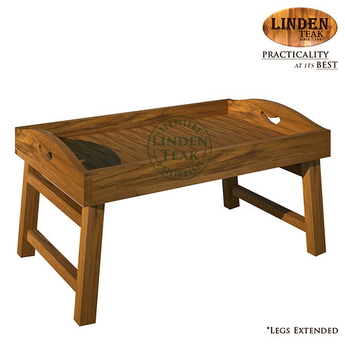 Handcrafted Solid Teak Wood Bed Tray