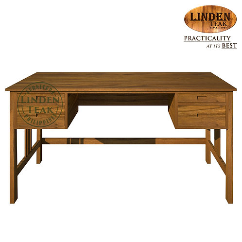 Handcrafted Solid Teak Wood Athena Office Table Furniture