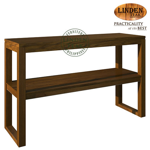Handcrafted Solid Teak Wood Hotel Console Table with Shelf Furniture
