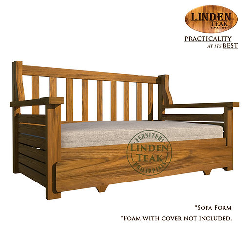 Handcrafted Solid Teak Wood Sofa Bed Furniture