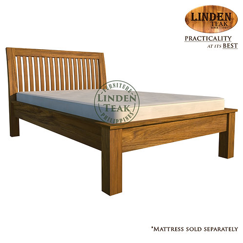 Handcrafted Solid Teak Wood Jari Bed Frame Twin Size