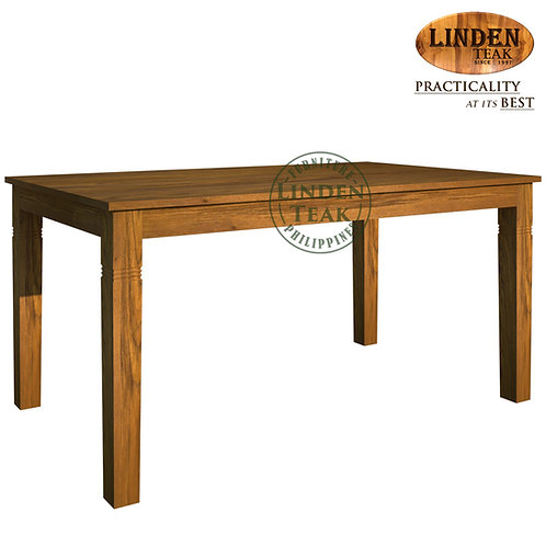 Handcrafted Solid Teak Wood Fixblock-160 Dining Table Furniture