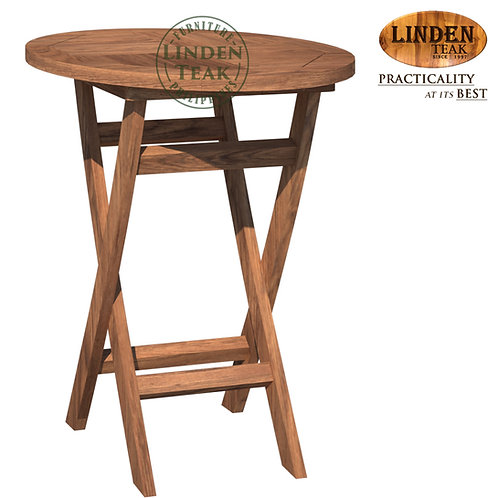 Handcrafted Solid Teak Wood Folding Round Table 60x60cm Furniture