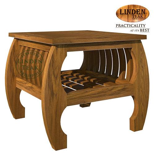 Handcrafted Solid Teak Wood Sedan Side Table Furniture