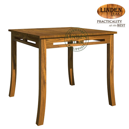 Handcrafted Solid Teak Wood Chantik Square Dining Table Furniture
