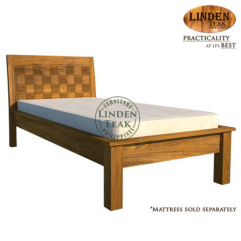 Handcrafted Solid Teak Wood Empatra Hershey Bed Frame Single Size Furniture