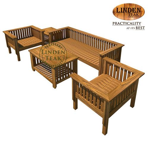 Handcrafted Solid Teak Wood 064 Sofa Set Furniture