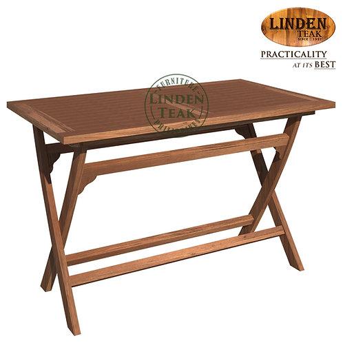 Handcrafted Solid Teak Wood ECO Folding Base Rectangular Dining Table Furniture